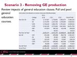 scenario 3 removing ge production