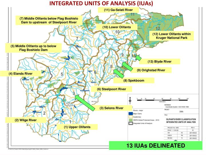 INTEGRATED UNITS OF ANALYSIS (IUAs)