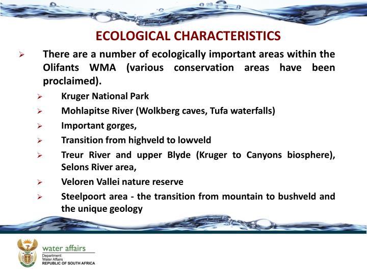 ECOLOGICAL CHARACTERISTICS