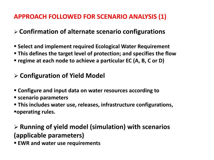 APPROACH FOLLOWED FOR SCENARIO ANALYSIS (1)