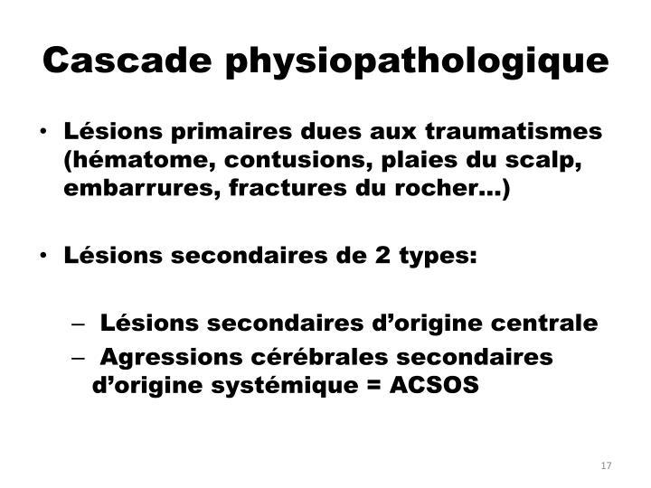 Cascade physiopathologique