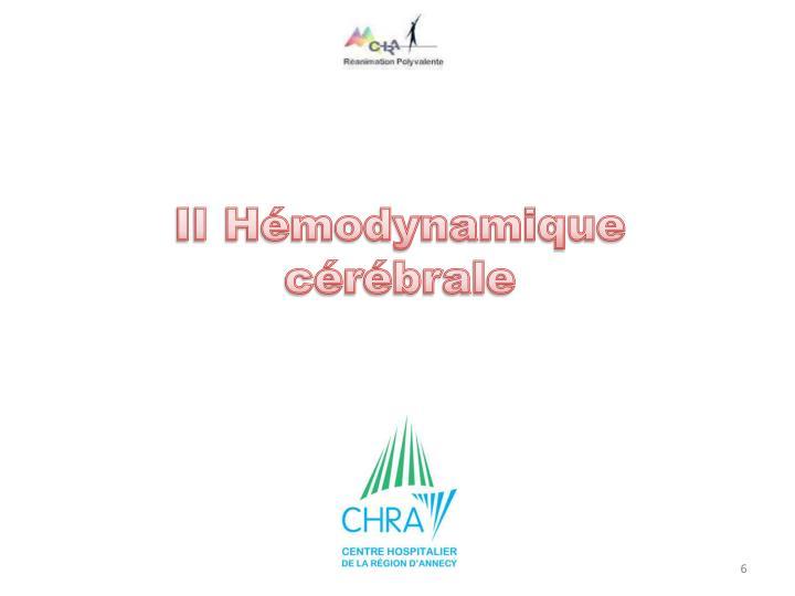 II Hémodynamique