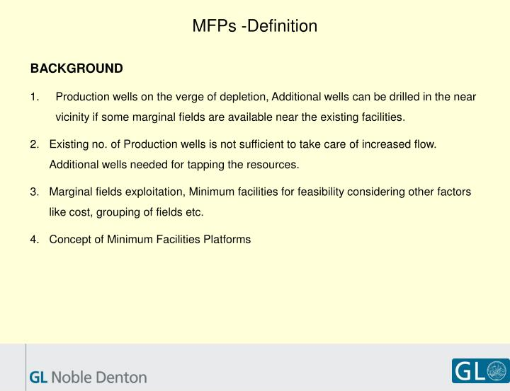MFPs -Definition