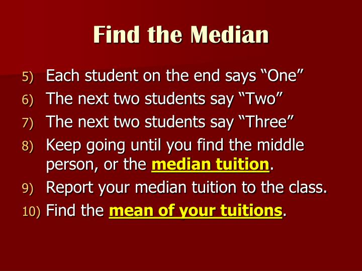 Find the Median