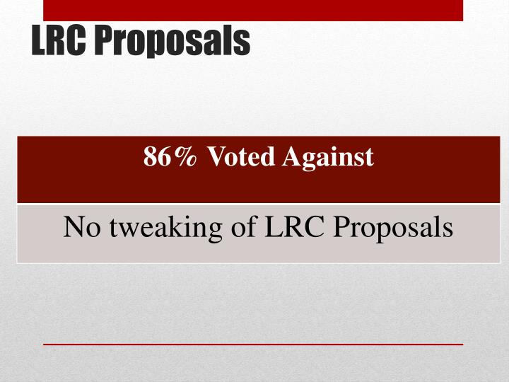 LRC Proposals