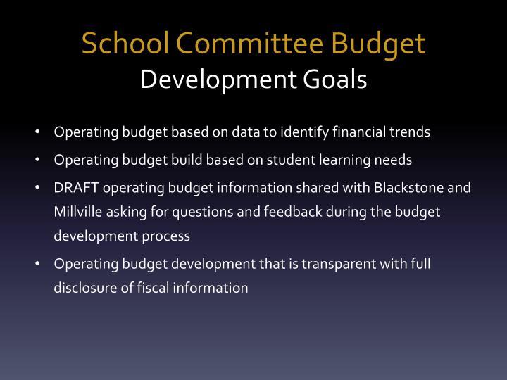 School Committee Budget