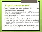 impact measurement