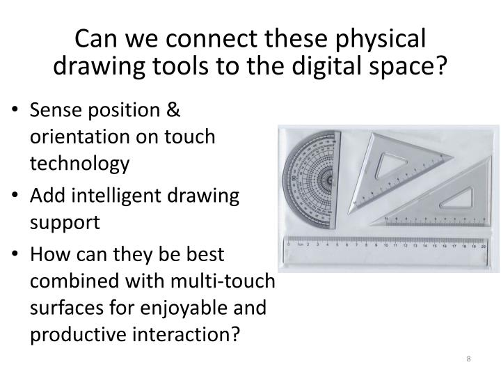 Can we connect these physical drawing tools to the digital space?
