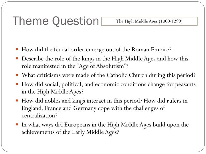 How did the feudal order emerge out of the Roman Empire?