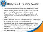 background funding sources