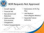 bor requests not approved