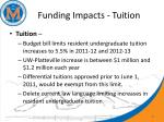 funding impacts tuition