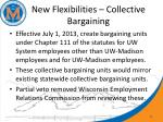 new flexibilities collective bargaining