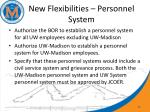 new flexibilities personnel system