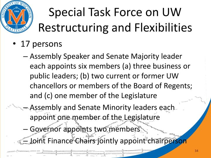 Special Task Force on UW Restructuring and Flexibilities