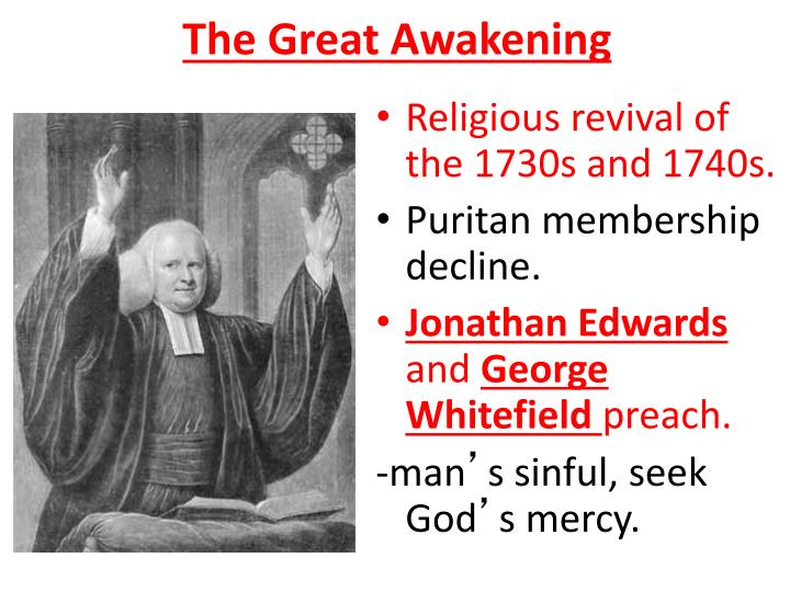 a research on the great awakening in america Great awakening: great awakening, religious revival in the british american colonies mainly between about 1720 and the '40s it was a part of the religious ferment that swept western europe in the latter part of the 17th century and early 18th century, referred to as pietism and quietism in continental europe among.