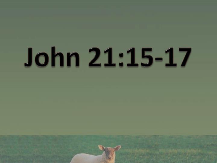 John 21:15-17