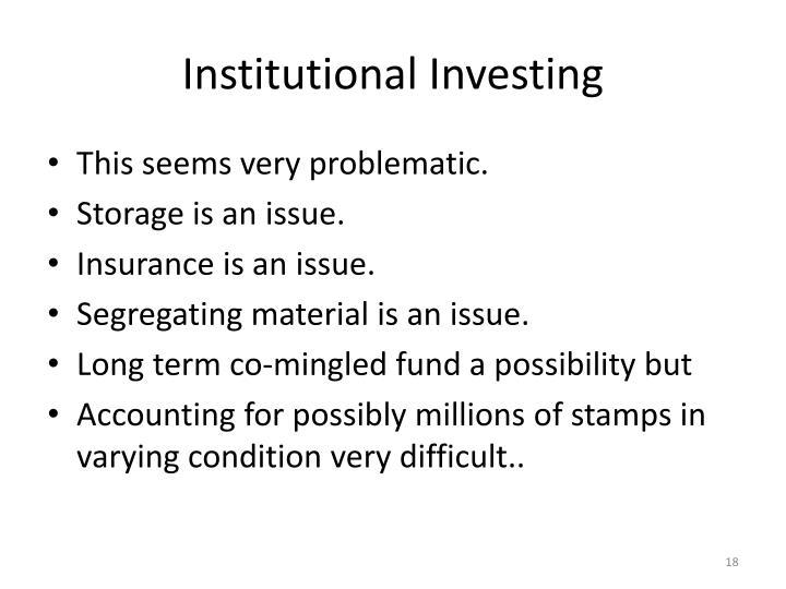 Institutional Investing