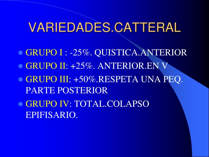 VARIEDADES.CATTERAL
