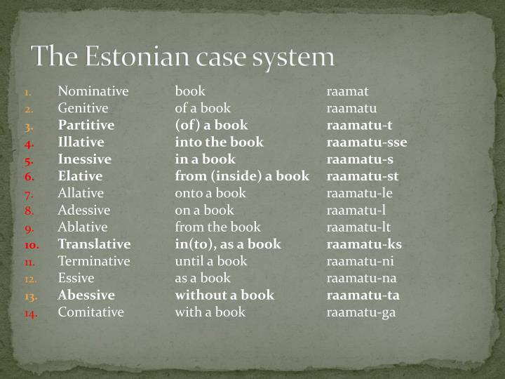 The Estonian case system