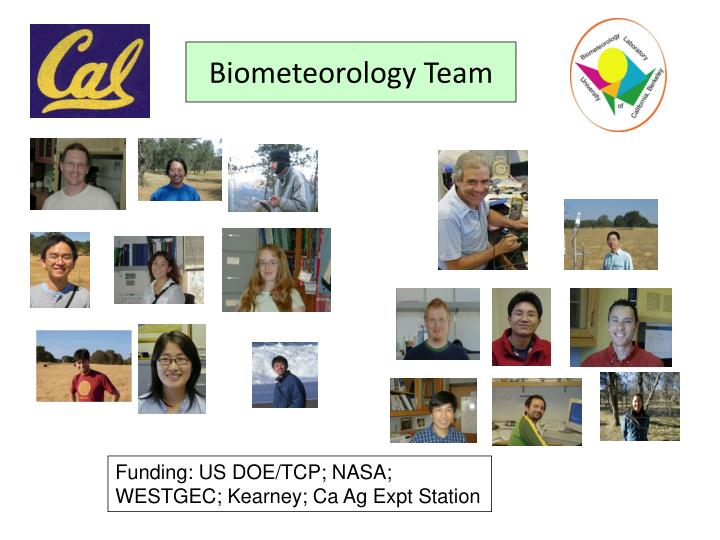 Biometeorology Team