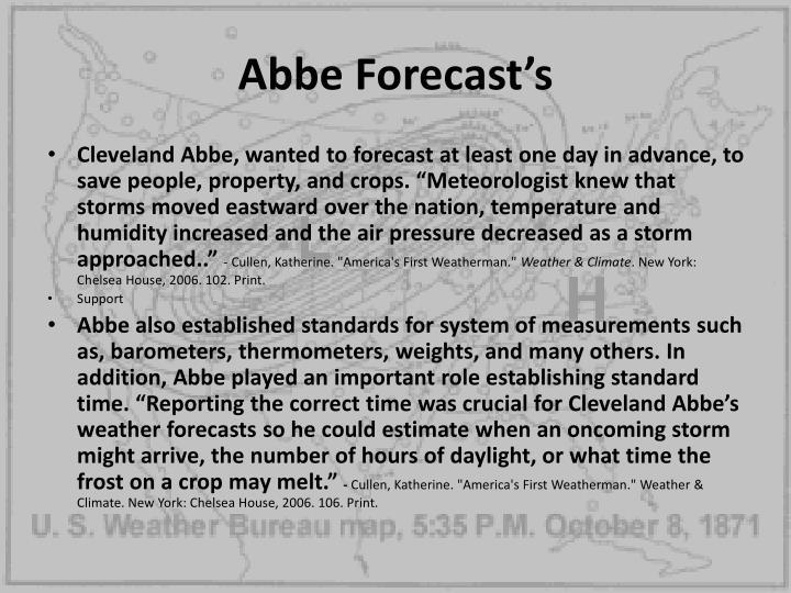 Abbe Forecast's