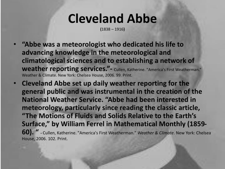 Cleveland abbe 1838 1916