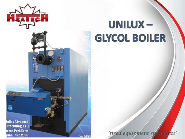 UNILUX – GLYCOL BOILER