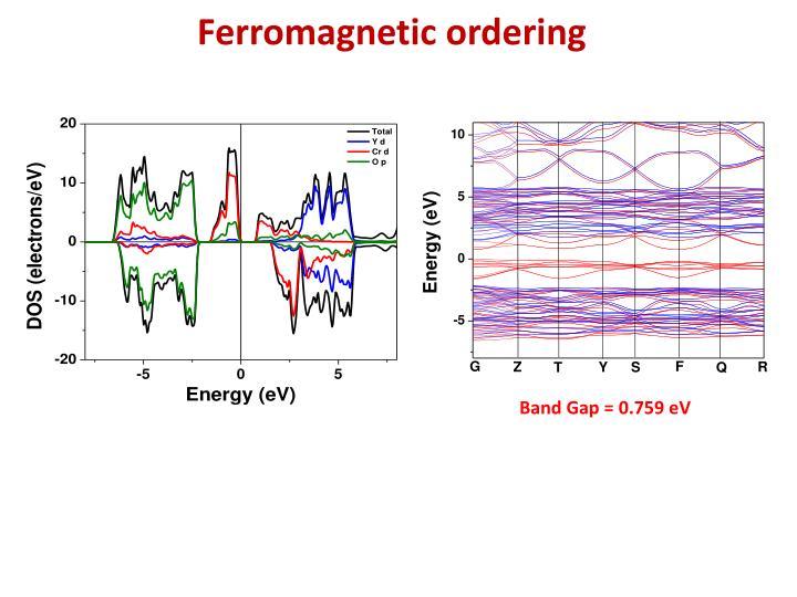 Ferromagnetic ordering