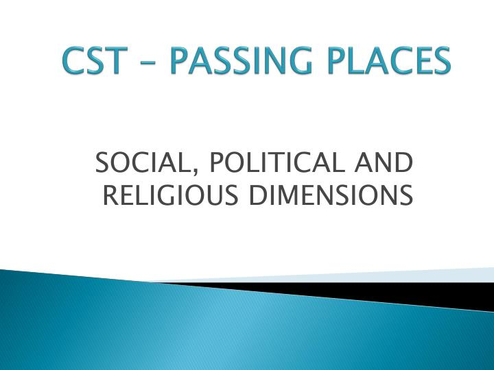 Cst passing places