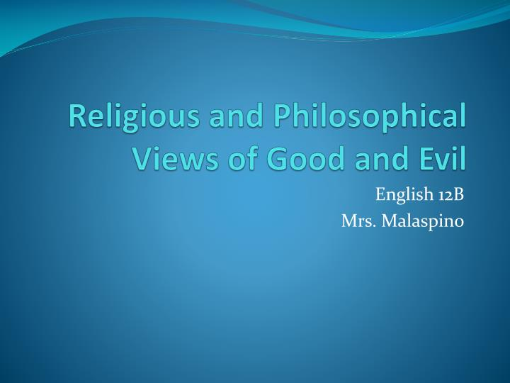 essay about religion