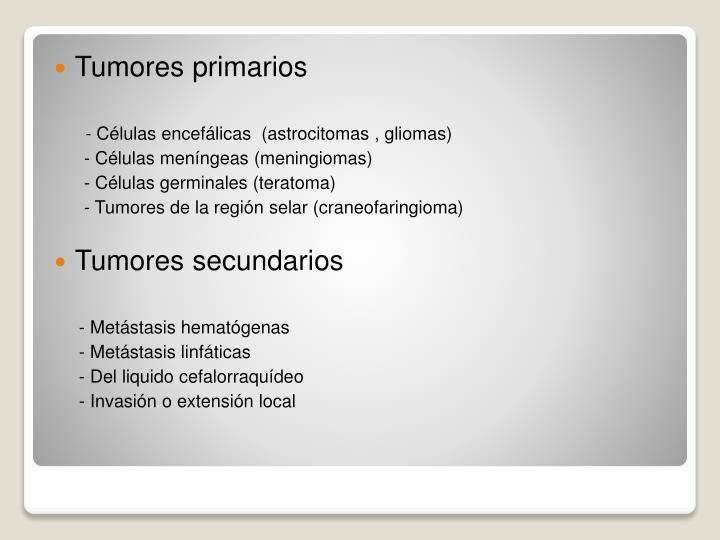Tumores primarios