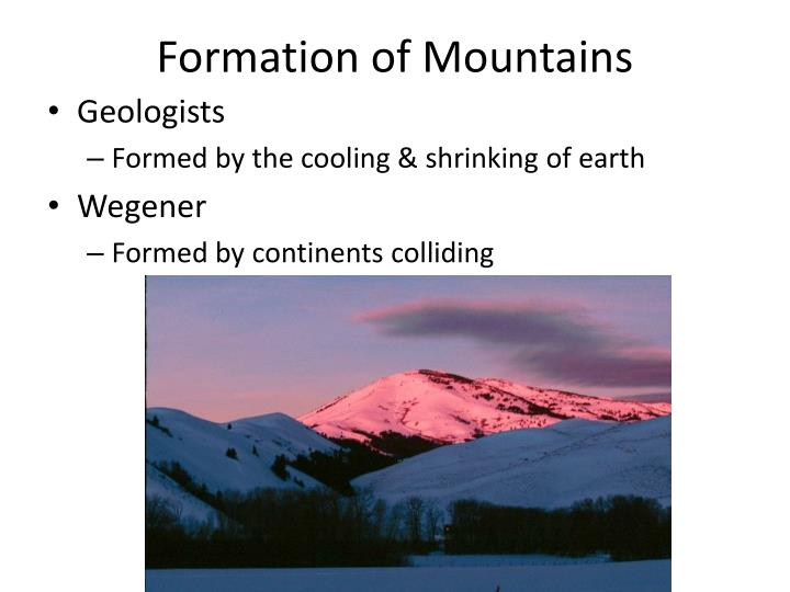 Formation of Mountains