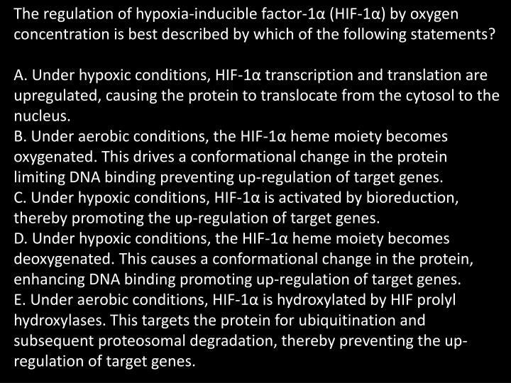 The regulation of hypoxia-inducible factor-1α (HIF-1α