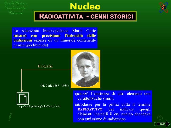 Radioattività  - cenni storici