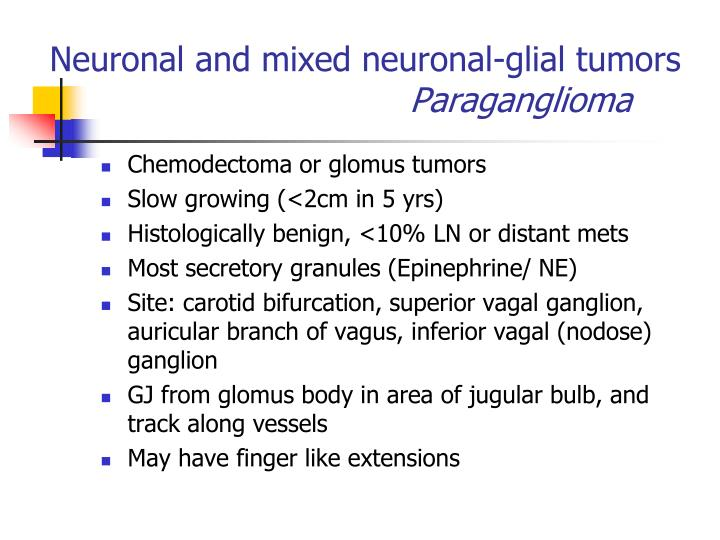 Neuronal and mixed neuronal-glial tumors