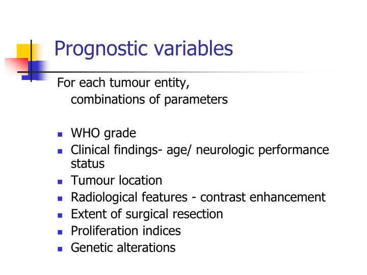 Prognostic variables