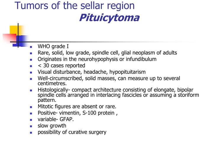 Tumors of the sellar region