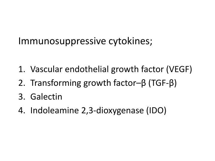 Immunosuppressive