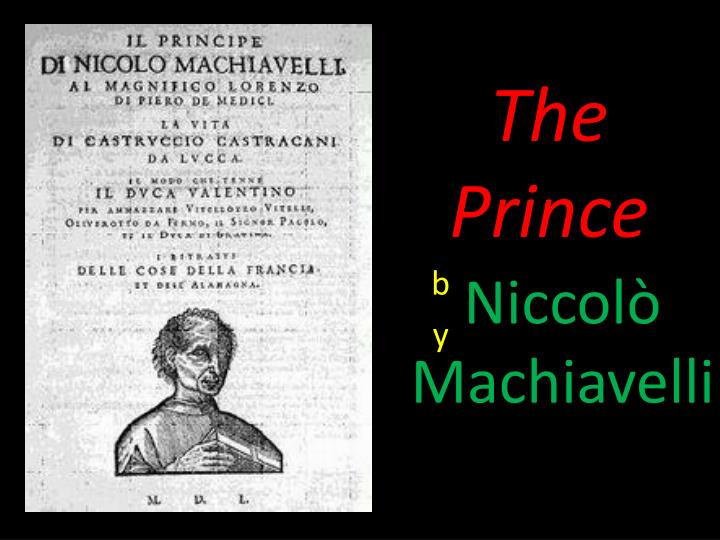 an analysis of chapter 17 of the prince by niccolo machiavelli