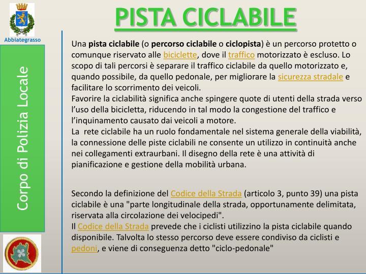 PISTA CICLABILE
