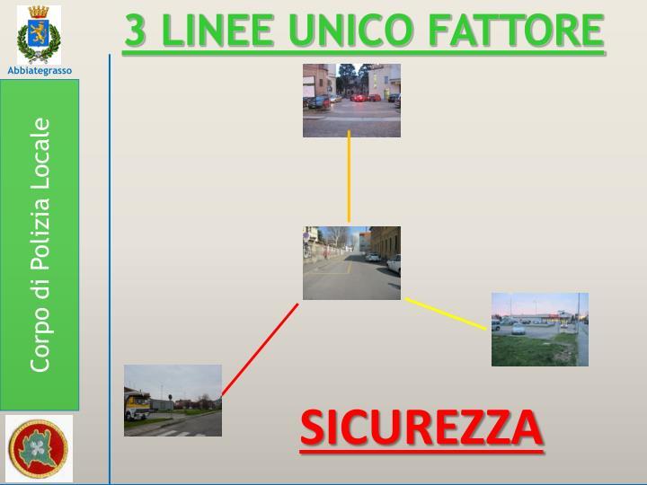 3 LINEE UNICO FATTORE