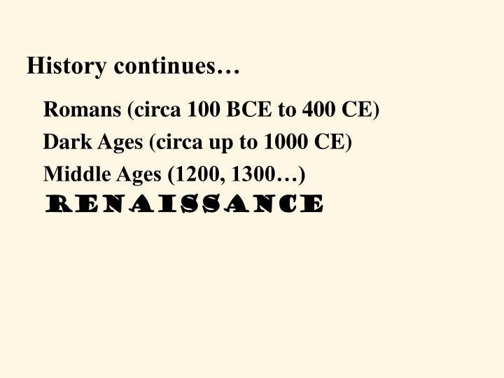 Romans (circa 100 BCE to 400 CE)