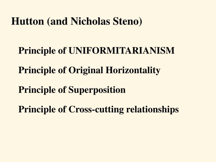 Principle of UNIFORMITARIANISM