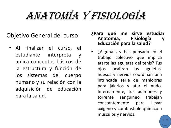 Anatomía y Fisiología