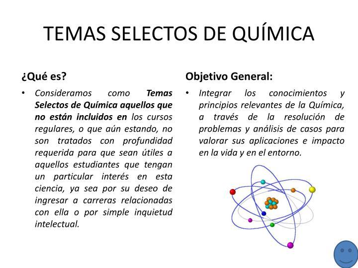 TEMAS SELECTOS DE QUÍMICA