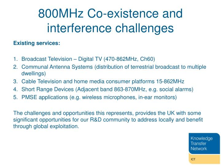 800MHz Co-existence