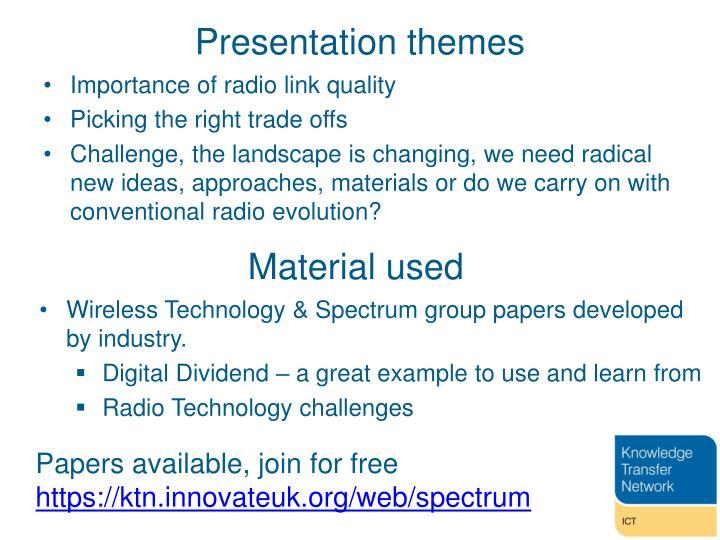 Presentation themes