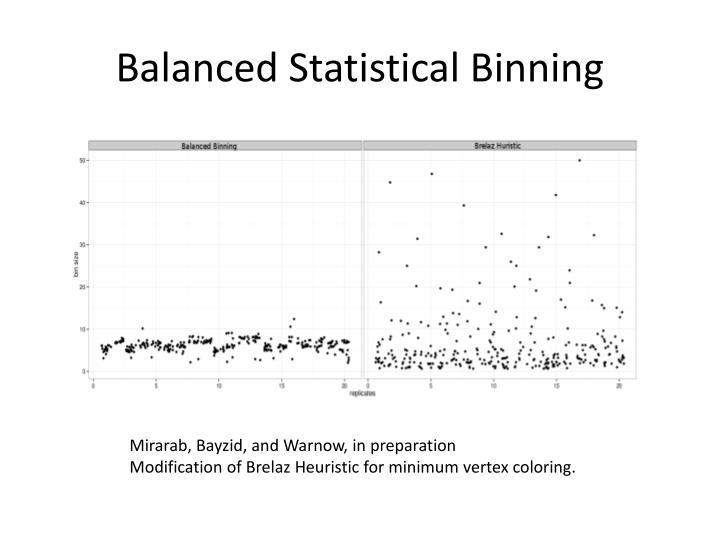 Balanced Statistical Binning