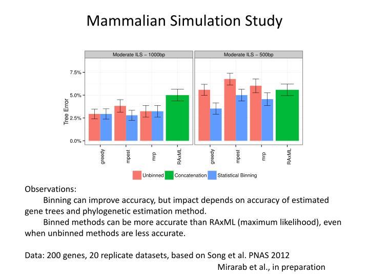 Mammalian Simulation Study
